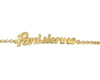 Writing Parisienne vermeil bracelet