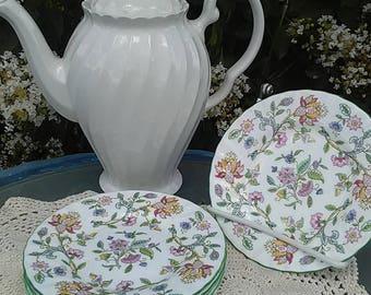 Set of 4 Minton Hadden Hall English Bread Plates