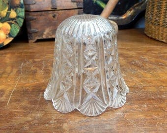Vintage Cut Glass Style Small Lampshade