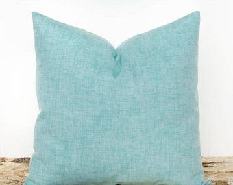 SALE ENDS SOON Solid Teal Throw Pillow Cover, Teal Pillowcase, Two-tone Teal Pillowcase, Throw Pillows, Cushion Covers, Cotton Pillows