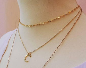 Gold chain choker necklace. Gold choker necklace. Layering necklace. Dainty gold choker. Thin gold choker necklace.