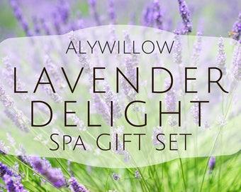 LAVENDER DELIGHT Spa Set || Delightful, Rejuvenating, Balancing, & Restorative Experience || Anti-Aging || Reduces Stress || Peaceful