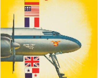 Avianca - El Colombiano Colombia - Vintage Poster (Art Print - Multiple Sizes Available)
