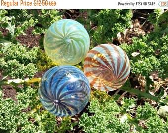 ON SALE NOW Hand Blown Glass Christmas Ornament Garden Sun Catcher--Twists