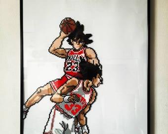 Goku dunk on Vegeta