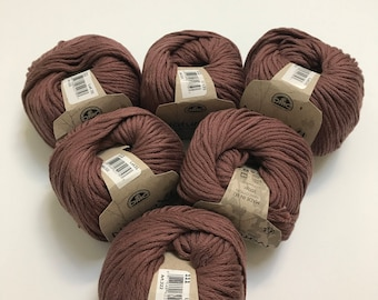 Natura XL Bulky Cotton Yarn in Clay // 6 Skein Pack // Stash Sale