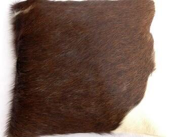 Natural Cowhide Luxurious Hair On Cushion/ Pillow Cover (15''x 15'') A58