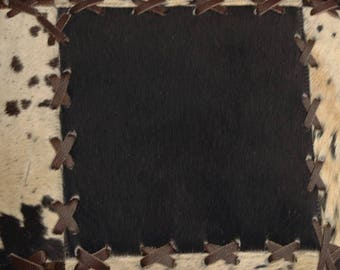 Natural Cowhide Luxurious Patchwork Hairon Cushion/pillow Cover (15''x 15'')a195