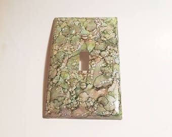 Single Switchplate, Light Switch Plate, Painted Switchplate, Alcohol Ink Switchplate, Home Decor