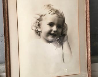 Vintage Little Girl Photograph 1940's
