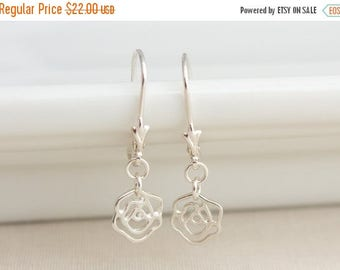 Close Out Sale Sterling Silver Flower Earrings