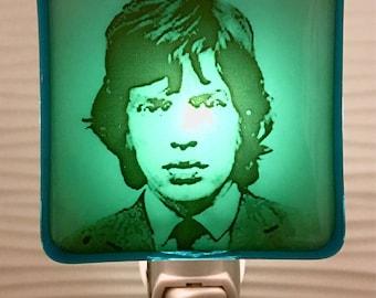Mick Jagger Night Light Fused Glass