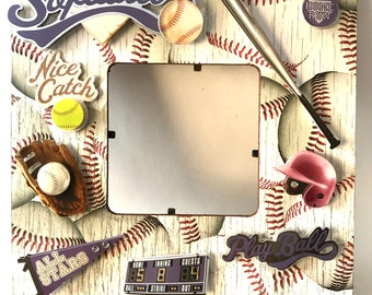 Softball Team/Softball/Sports/Go team/table decor/Player Frame