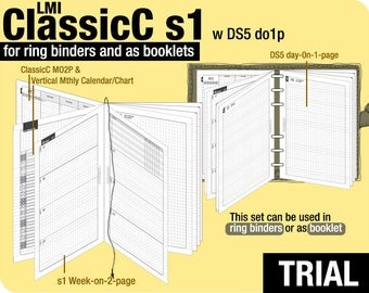 Trial [B6 ClassicC S1 with DS5 do1p] November to December 2017 - Filofax Inserts Refills Printable Binder Planner Midori.