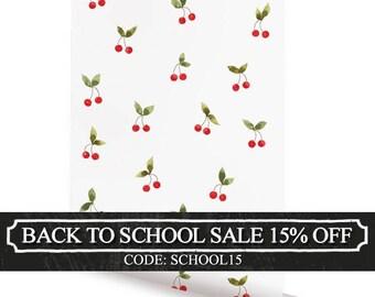 Cherries Patch Peel & Stick Fabric Wallpaper Repositionable