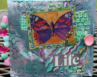 Junk Journal, Recycled envelopes, Journaling, Handmade, Stitched