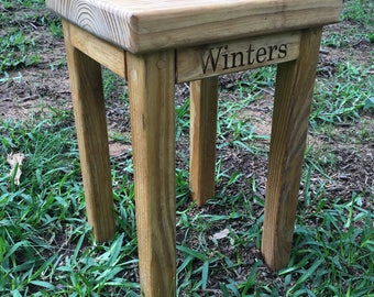 Stained Tumbling Blocks Game Table