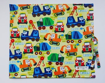 Kid's Travel Chalkboard with Trucks - Construction Chalkboard - Kid's Travel Toys - Kid's Art Supplies - Kid's Learning Tools