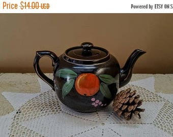 WILL SHIP AUG 23 Gibson Redware Teapot Little Brown Betty  England