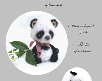 KIT of materials Teddy Bear Panda 11 cm by Anna Galli