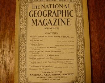 National Geographic Magazine January 1918