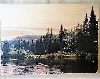 Transfert photo sur bois - Canada