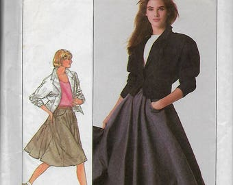 Simplicity 8388      Misses Skirt and Unlined Jacket      Size  12  Uncut