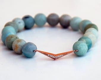 Amazonite bracelet, Gift womans , Beaded bracelet , Healing bracelet , Gift for girlfriend , Gift for her , Amazonite woman , Boho bracelet