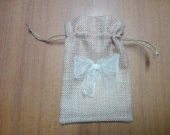 Jute Bag Natural Ceremony Bag Pouch Bag Bags Jute Handbag Wedding Accessories