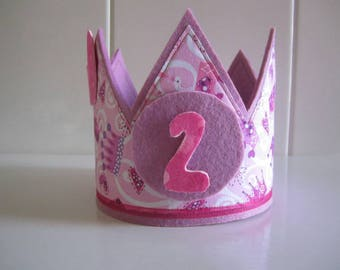 Birthday Crown - Crown birthday - gift for girl - Happy birthday - Personalized Crown - birthday child - made with fabric