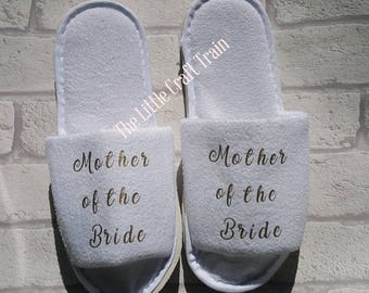 Maid of honour, slippers, bridesmaid slippers, bride slippers, spa slippers, bridal slippers
