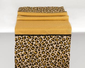 Final Sale Luxurious Animal Print Table Runner With Gold Accents, FREE  SHIPPING TR 9 102