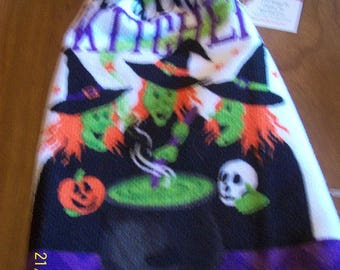 Halloween Witches Kitchen Towel with Pot Holders
