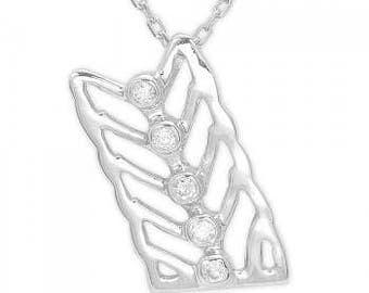 Diamond Silver Necklace, Silver Necklace, Virgo Necklace, Diamond Necklace, Horoscope Necklace, Express Shipping