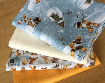 WOODLAND FRIENDS fabric bundle C 100% cotton Fat Quarters by Quilting Treasures