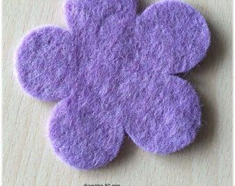 pretty little 80 mm Lavender felt flower