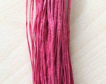 "Raffia iridescent fuchsia ""special embroidery"""