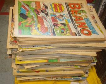 Set of 190 Good condition Beano/Dandy 1980 Comics.