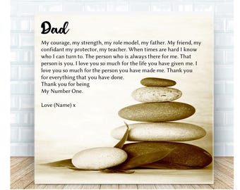 My Father * Dad Poem Ceramic Plaque. Personalised Gift. Birthday, Christmas, Father's Day. Wedding Thank You Gift