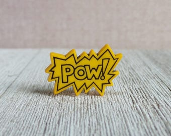 POW - Comic Book Art - Speech Bubble - Lapel Pin