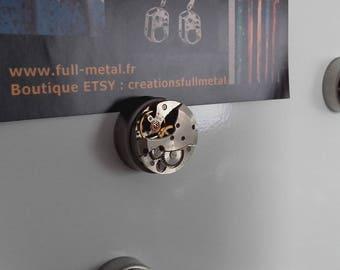 Magnet, vintage watch movement fridge magnet