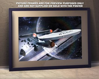 Star Trek A3 Enterprise Poster