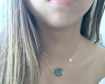 personalized labradorite necklace monogram initial labradorite jewelry monogram letter jewelry labradorite gemstone necklace 14k gold filled