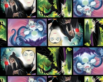 Disney Fabric Villains Patch Movie Art Fabric From Springs Creative