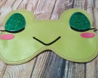 ITH Frog Sleep Mask - 5 x 7 -   DIGITAL Embroidery DESIGN