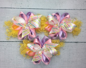 Easter Plaid bow