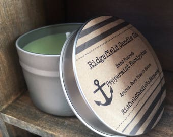 Peppermint Eucalyptus Ecosoy Candle