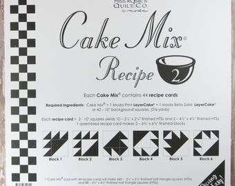 Cake Mix Recipe #2 - Quilt Pattern - Layer Cake Friendly - Miss Rosie's Quilt Company