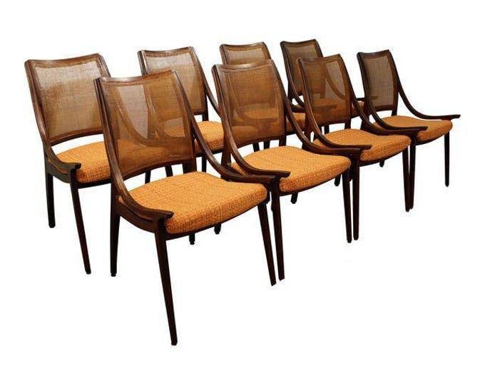Mid-Century Modern Dining Chairs John Stuart Glenn of California Caned Dining Chairs Danish Modern