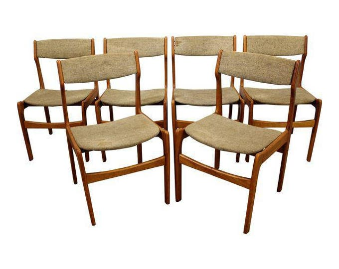 Set of 6 Mid-Century Danish Modern Teak Dining Chairs